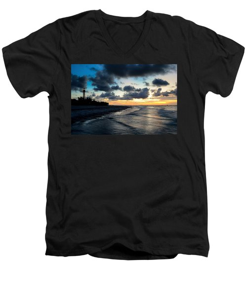 Men's V-Neck T-Shirt featuring the photograph To See The Light... by Melanie Moraga