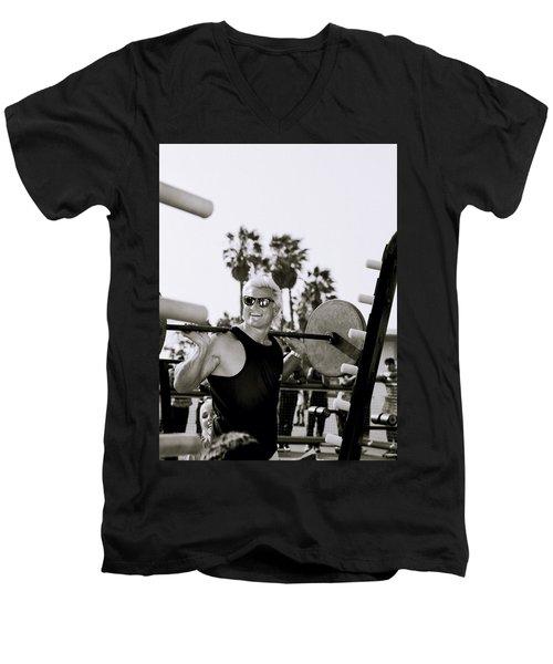Tom Platz In Los Angeles Men's V-Neck T-Shirt
