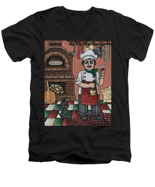 Tommys Italian Kitchen Men's V-Neck T-Shirt