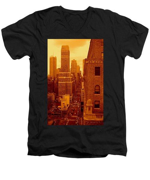 Top Of Manhattan Men's V-Neck T-Shirt