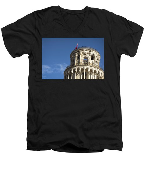 Top Of The Leaning Tower Of Pisa Men's V-Neck T-Shirt