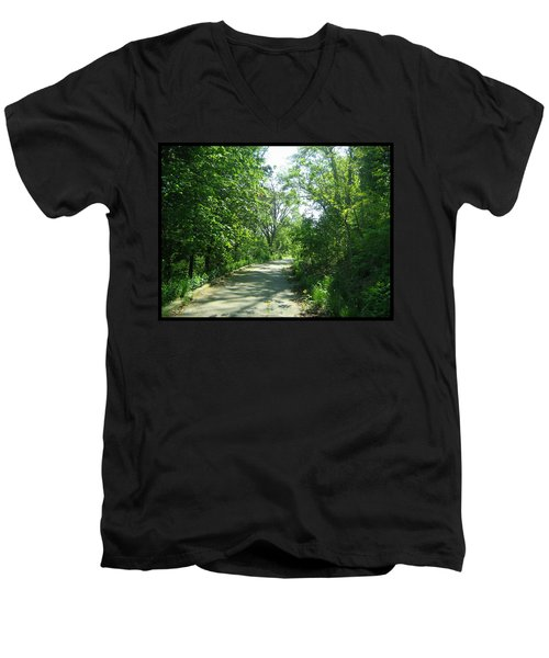 Men's V-Neck T-Shirt featuring the photograph Toronto Trails by Shawn Dall
