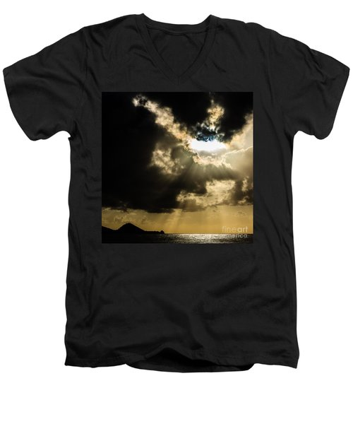 Total Solar Eclipse Breakthrough Men's V-Neck T-Shirt