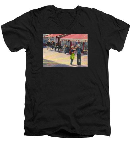 Tourists Men's V-Neck T-Shirt by Connie Schaertl