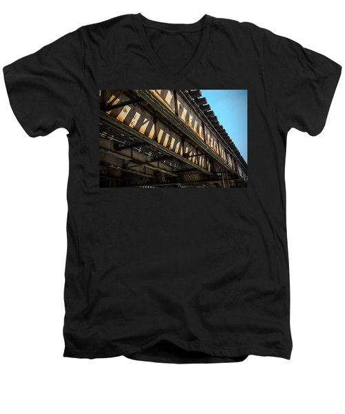Tracks In The Sun Men's V-Neck T-Shirt