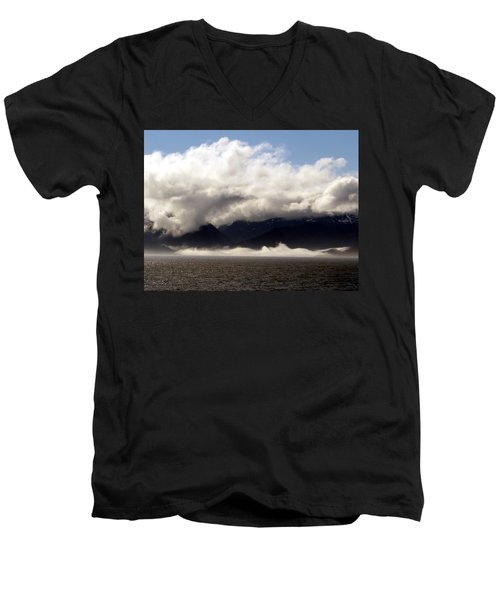 Men's V-Neck T-Shirt featuring the photograph Tracy Arm Fjord by Jennifer Wheatley Wolf