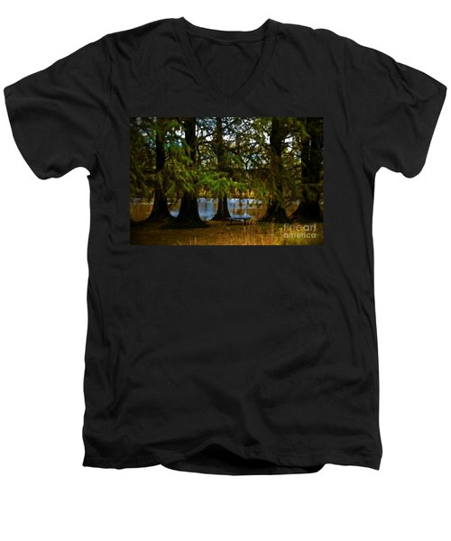 Tranquil And Serene Men's V-Neck T-Shirt