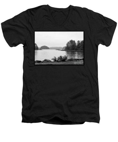 Men's V-Neck T-Shirt featuring the photograph Tranquil Harbor by Victoria Harrington