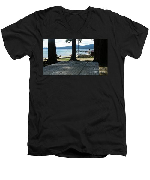 Men's V-Neck T-Shirt featuring the photograph Tranquil Moment by Bobbee Rickard