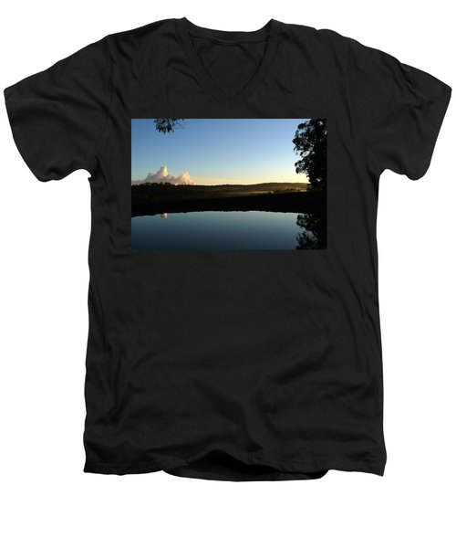 Men's V-Neck T-Shirt featuring the photograph Tranquility by Evelyn Tambour