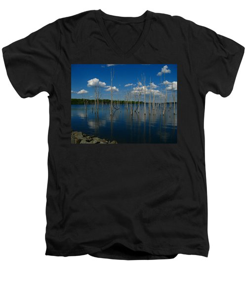 Men's V-Neck T-Shirt featuring the photograph Tranquility II by Raymond Salani III