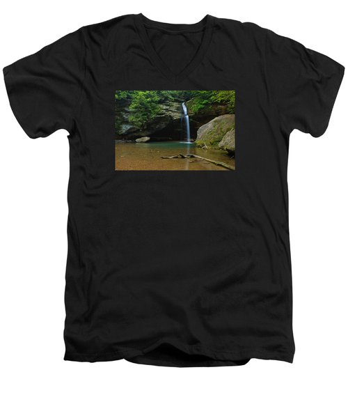 Men's V-Neck T-Shirt featuring the photograph Tranquility by Julie Andel