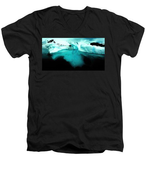 Men's V-Neck T-Shirt featuring the photograph Transparent Iceberg by Amanda Stadther