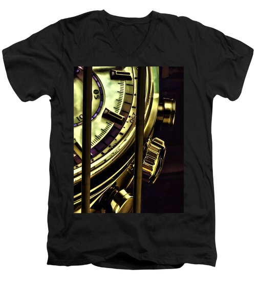 Men's V-Neck T-Shirt featuring the painting Trapped In Time by Muhie Kanawati