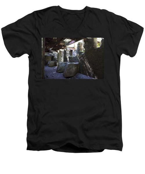 Treadwell Mine Interior Men's V-Neck T-Shirt by Cathy Mahnke