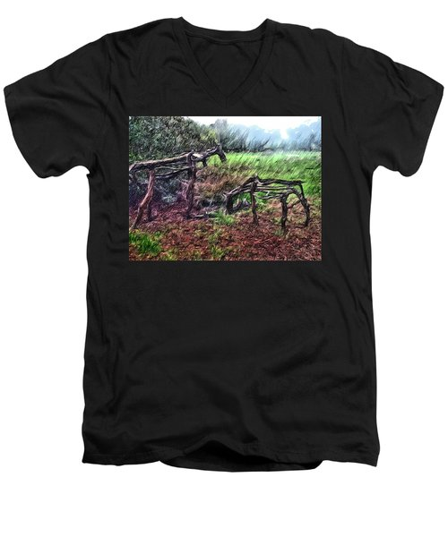 Tree Horse Men's V-Neck T-Shirt