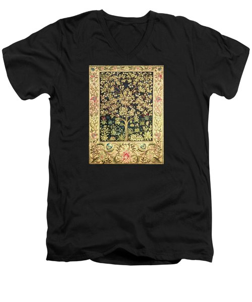 Tree Of Life Men's V-Neck T-Shirt by William Morris