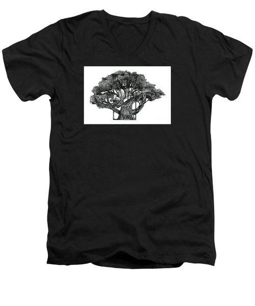 Tree Of Summer Men's V-Neck T-Shirt
