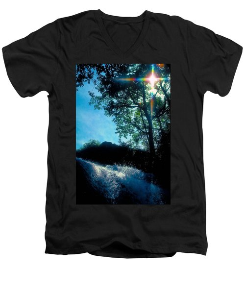 Tree Planted By Streams Of Water Men's V-Neck T-Shirt by Marie Hicks