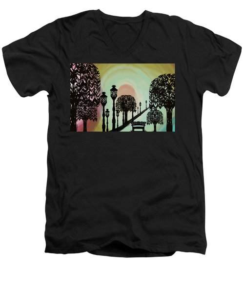 Trees Of Lights Men's V-Neck T-Shirt