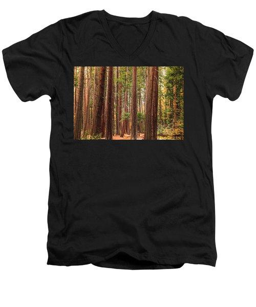 Trees Of Yosemite Men's V-Neck T-Shirt