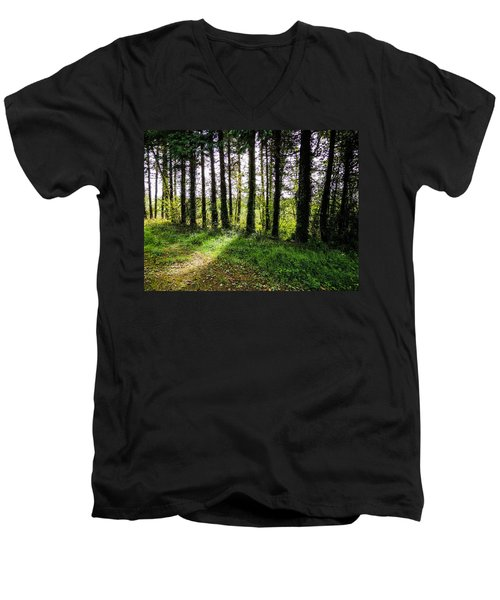 Trees On The Shannon Estuary Men's V-Neck T-Shirt