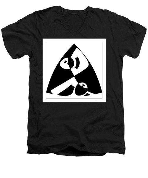 Triangle Men's V-Neck T-Shirt