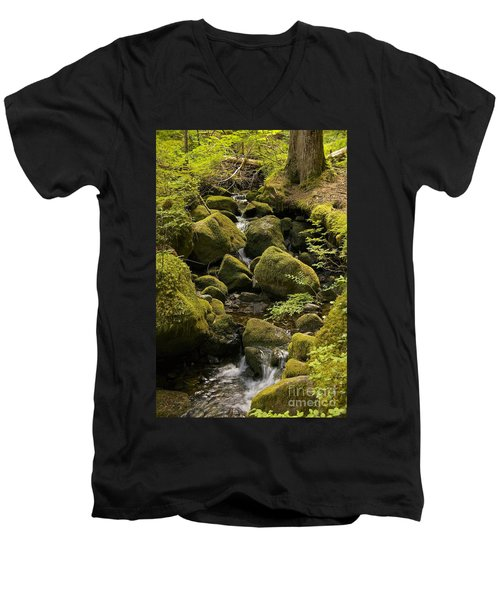 Men's V-Neck T-Shirt featuring the photograph Tributary by Sean Griffin