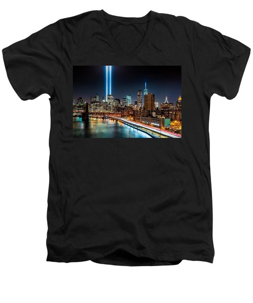 Tribute In Light Memorial Men's V-Neck T-Shirt