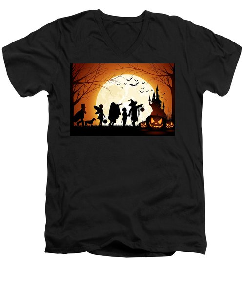 Trick Or Treat Men's V-Neck T-Shirt by Gianfranco Weiss
