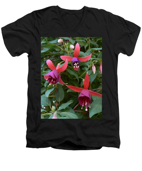 Men's V-Neck T-Shirt featuring the photograph Trifecta by Michael Porchik
