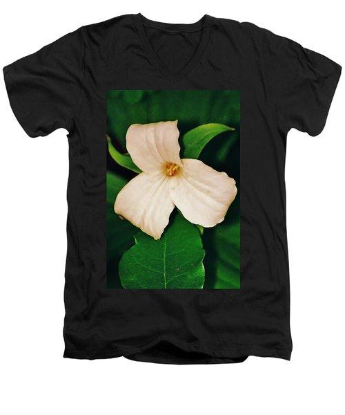 Men's V-Neck T-Shirt featuring the photograph Trillium by Daniel Thompson