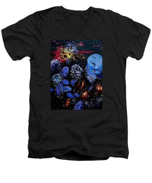 Trojans And Meteoroids Men's V-Neck T-Shirt by Raymond Perez