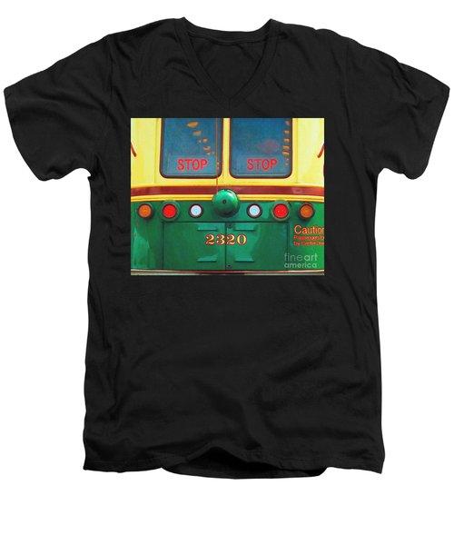 Trolley Car - Digital Art Men's V-Neck T-Shirt