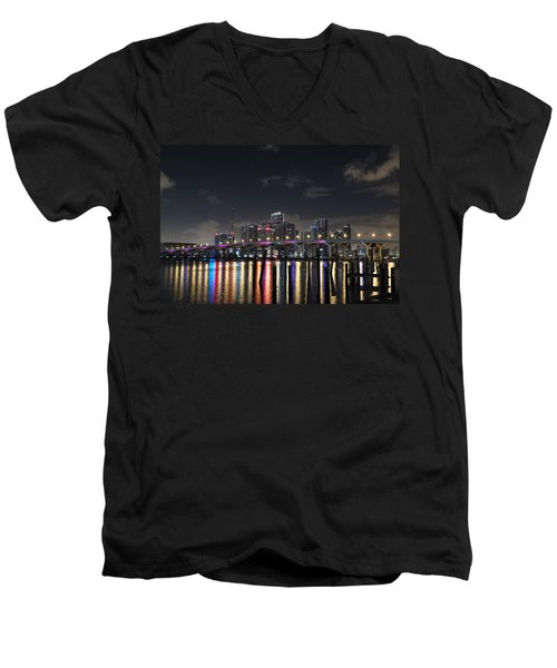 Trooper Bridge Miami Men's V-Neck T-Shirt