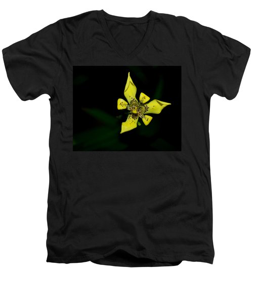 Men's V-Neck T-Shirt featuring the photograph Tropic Yellow by Miguel Winterpacht