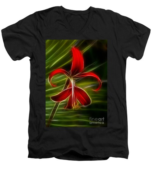 Tropical Abstract Men's V-Neck T-Shirt