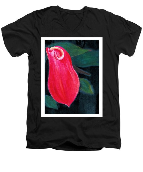 Tropical Flower 2 Men's V-Neck T-Shirt by C Sitton