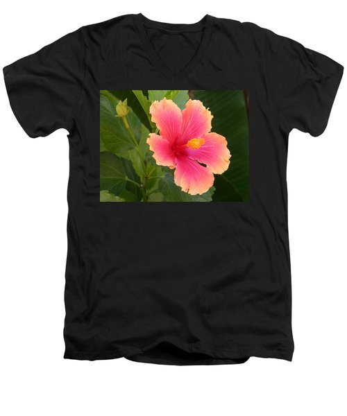 Tropical Hibiscus Men's V-Neck T-Shirt