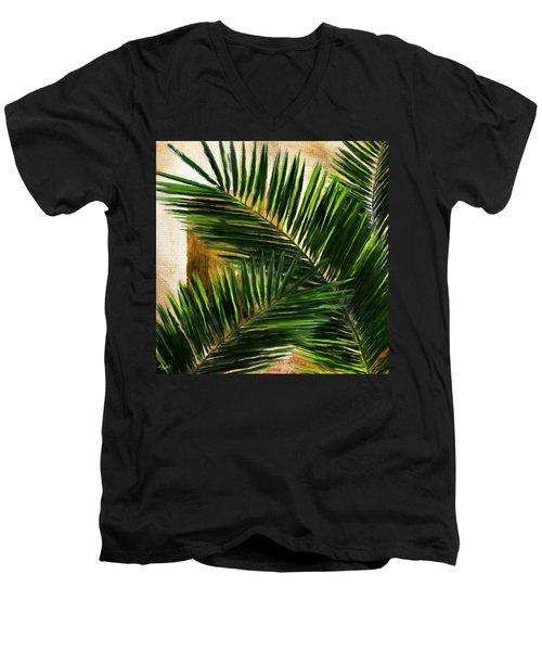 Tropical Leaves Men's V-Neck T-Shirt