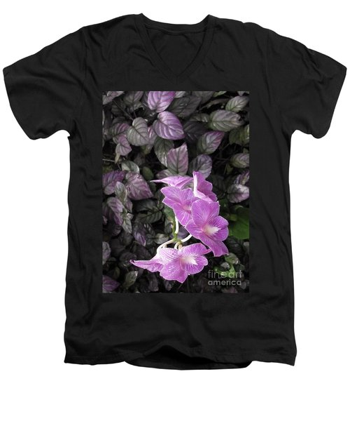 Tropical Orchids Men's V-Neck T-Shirt