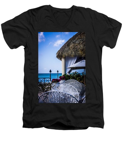Tropical Paradise Men's V-Neck T-Shirt by Sara Frank