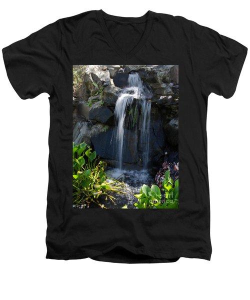 Tropical Waterfall  Men's V-Neck T-Shirt