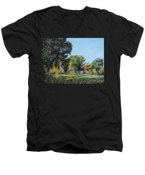Tucked Away Men's V-Neck T-Shirt