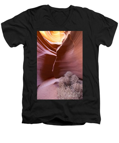 Men's V-Neck T-Shirt featuring the photograph Tumbleweed In The Canyon by Bryan Keil