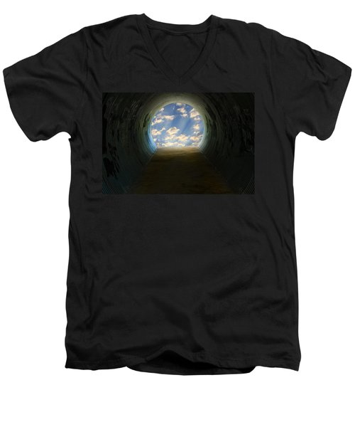 Tunnel With Light Men's V-Neck T-Shirt