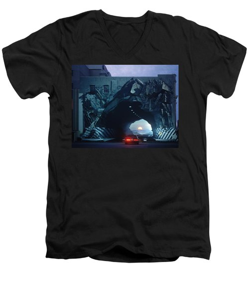 Tunnelvision Men's V-Neck T-Shirt by Blue Sky