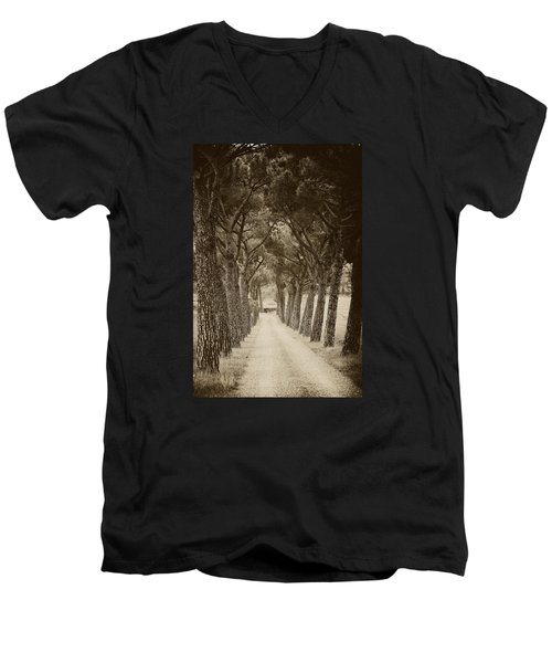 Men's V-Neck T-Shirt featuring the photograph Tuscan Pines by Hugh Smith