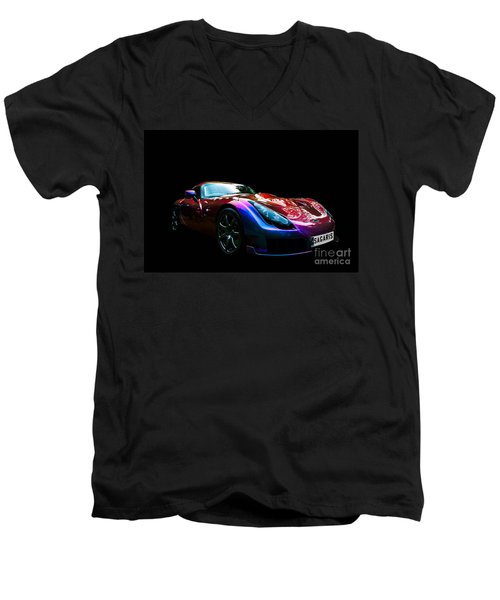 Men's V-Neck T-Shirt featuring the photograph Tvr Sagaris by Matt Malloy