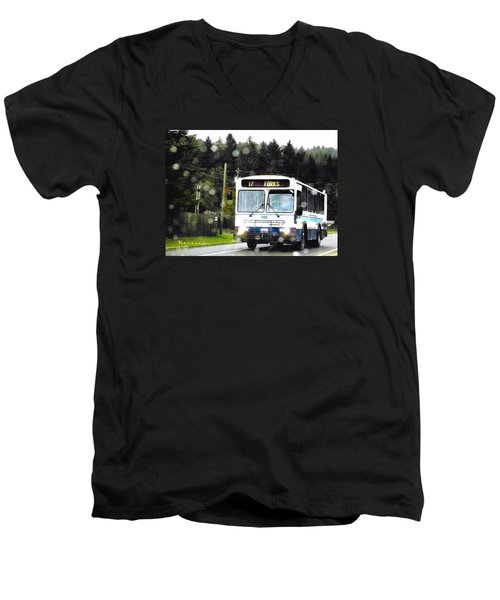 Twilight In Forks Wa 1 Men's V-Neck T-Shirt by Sadie Reneau